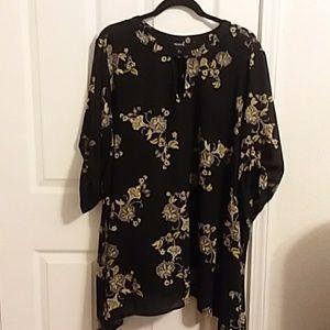 Torrid black and gold blouse